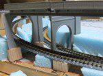 複線から単線トンネル2本に変更・位置も変更