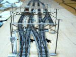 信号機と架線柱を設置