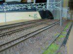 架線柱と廃線