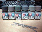塗色候補のグレー系塗料