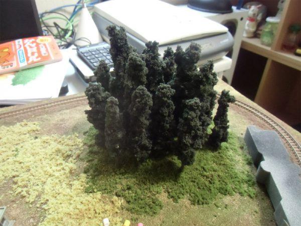 針葉樹を植える
