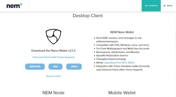 nano wallet download