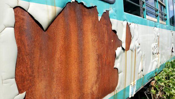 側面の塗装剥離